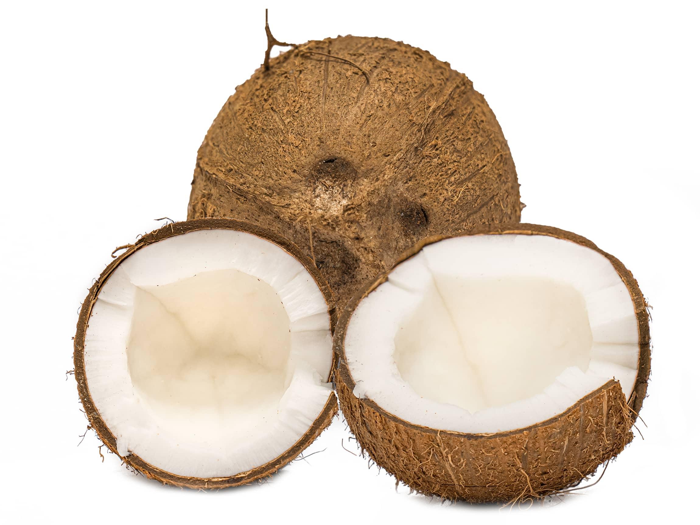 Inni kokosnøtten skjuler det seg fantastisk kokoskjøtt!