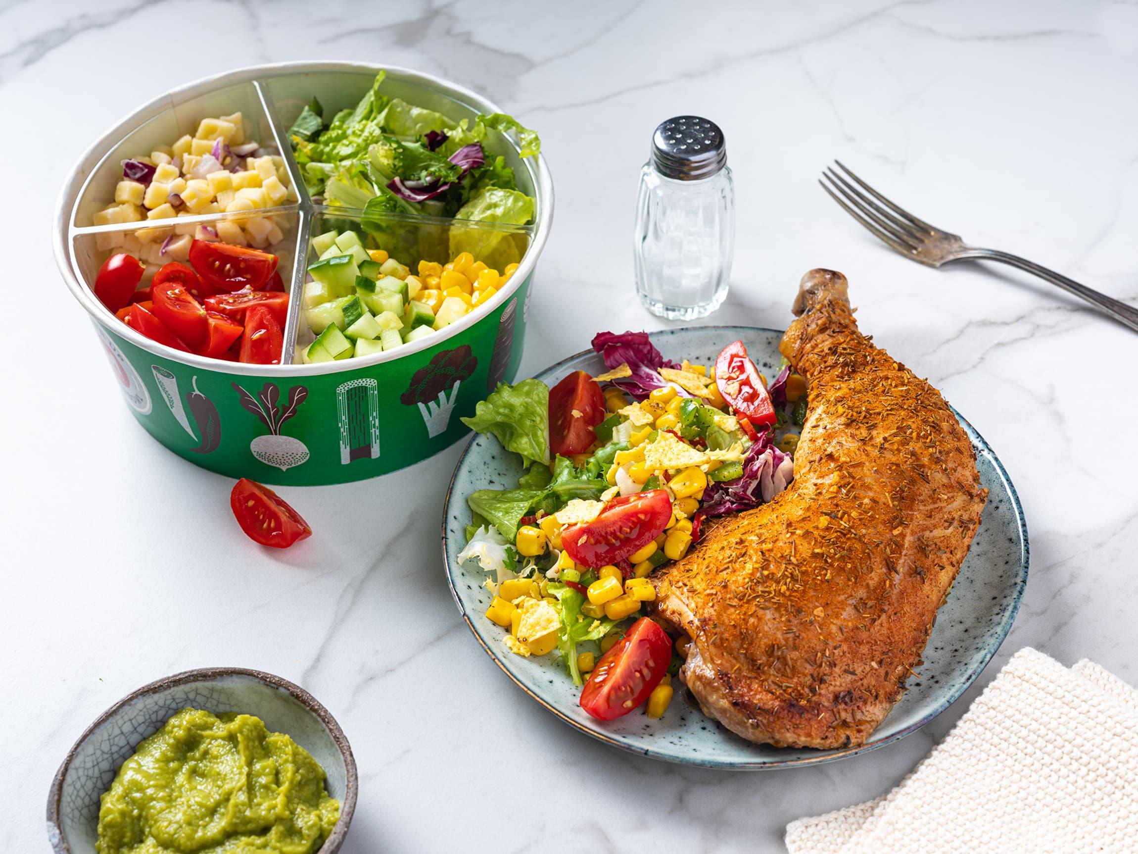 Perfekt tilbehør til lunsj og middag fra salatbaren