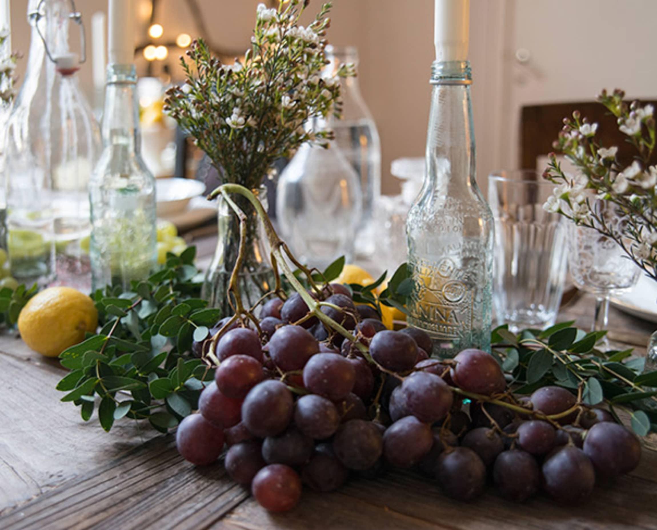 Druer er dekorativt og holder godt i romtemperatur