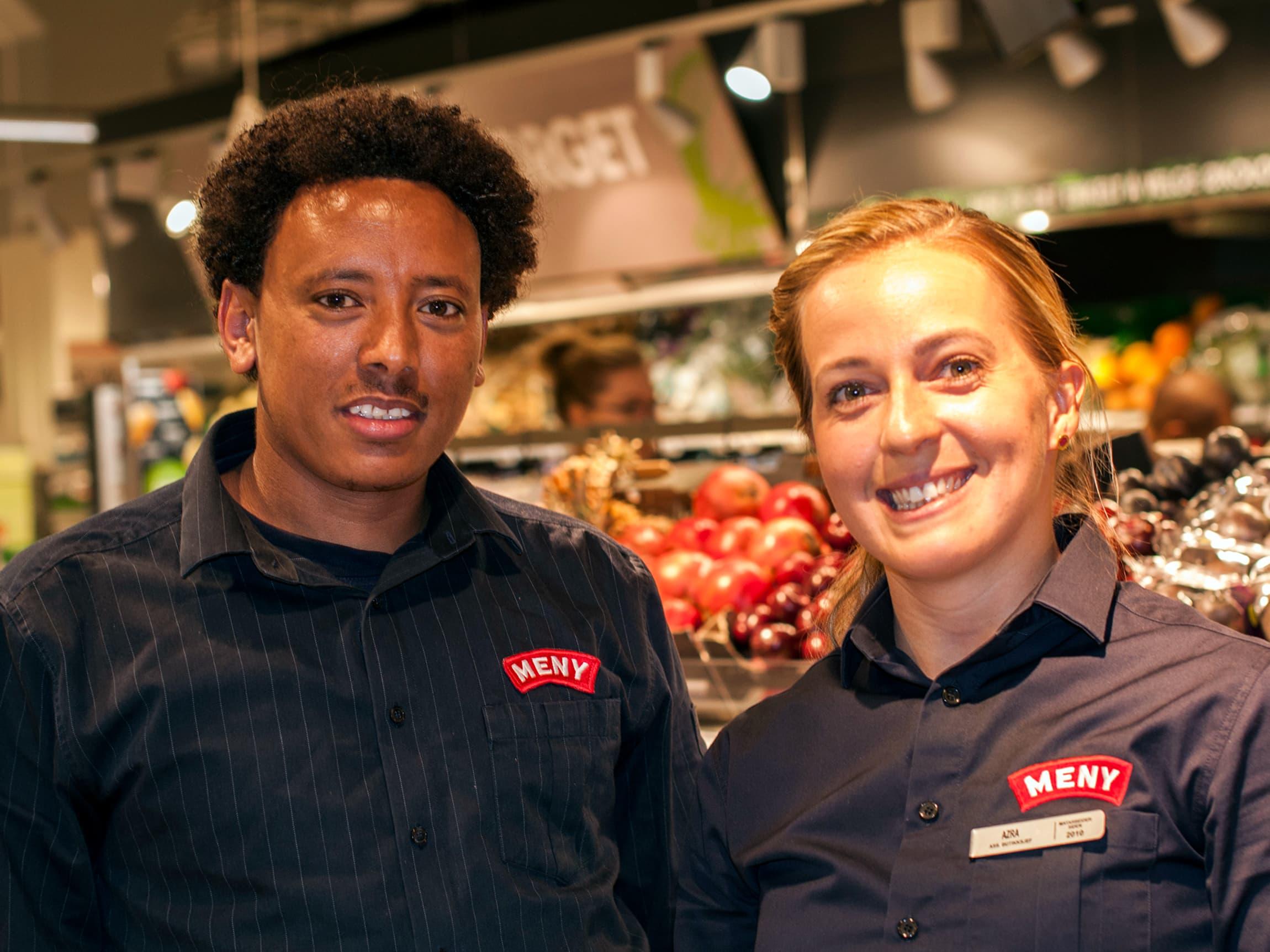 Biniam fikk jobb gjennom MENYs flyktningprogram