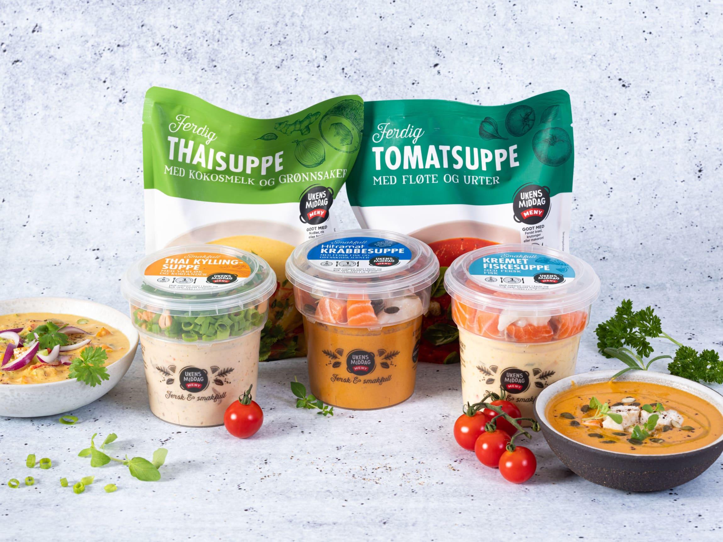 Suppene i Ukens middag konseptet er favoritter hos våre kunder.