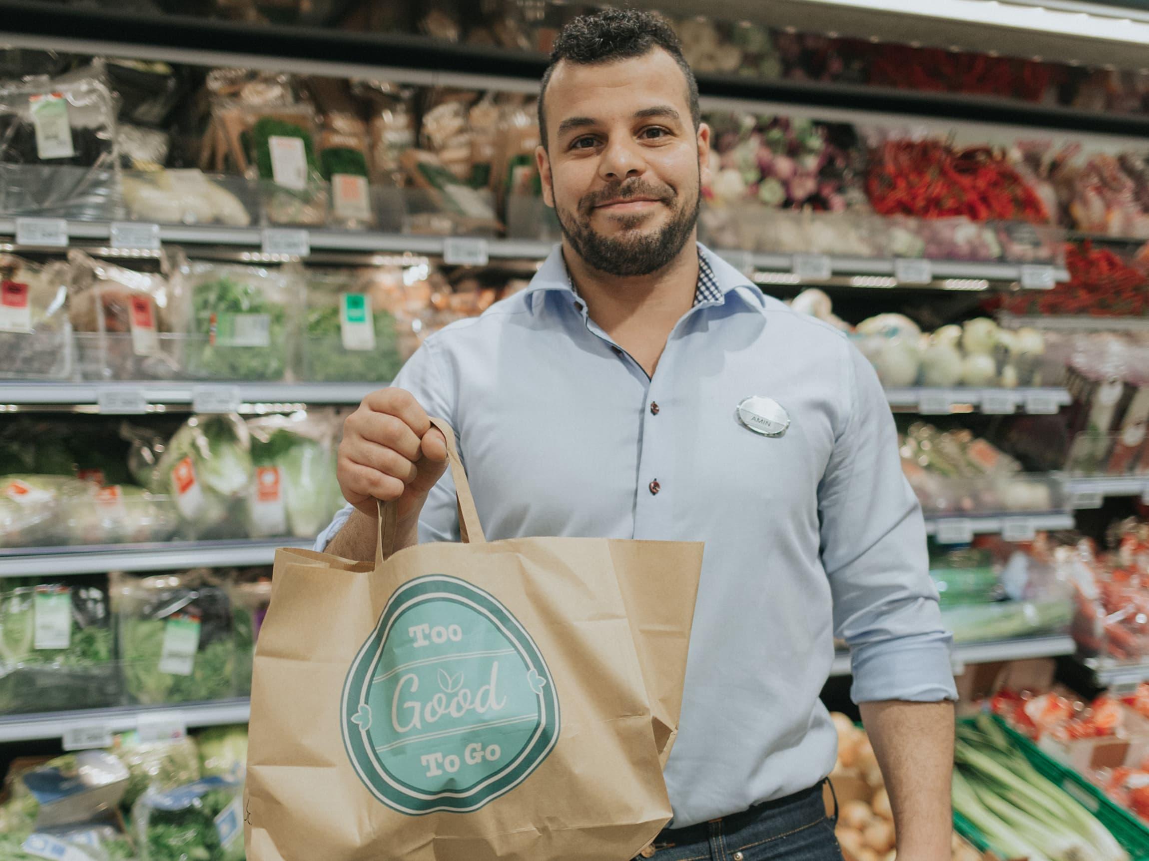 To Good too Go er svært populært blant kundene på MENY Bjølsen, forteller butikksjef Amine Bousha.