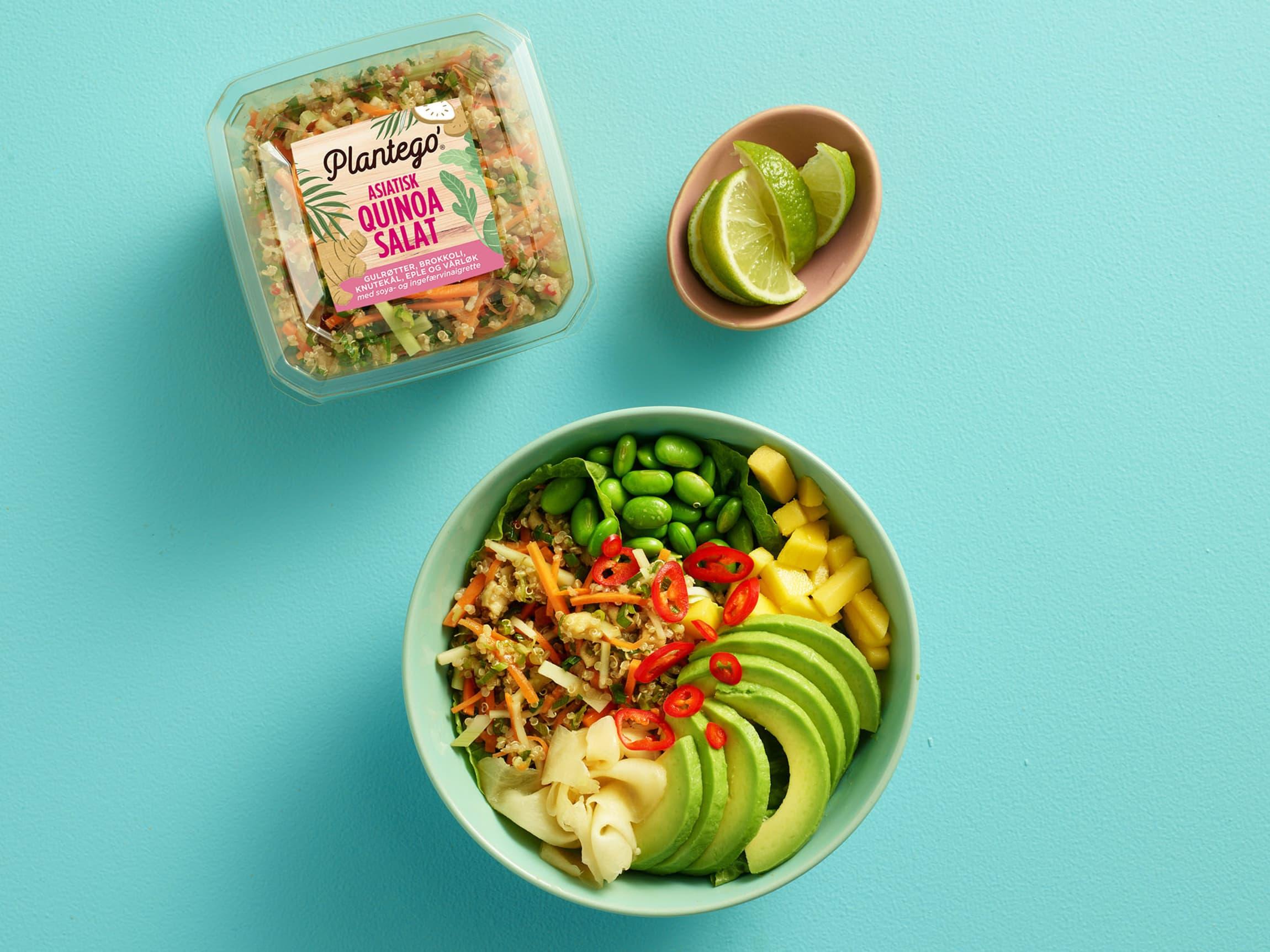 Bruk det du har i kjøleskapet av frukt og grønnsaker til pokebowl!