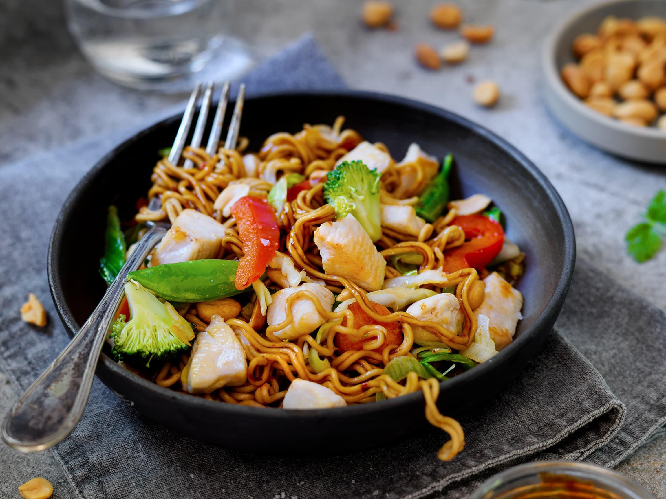 Wok med kylling er rask, god og sunn mat.