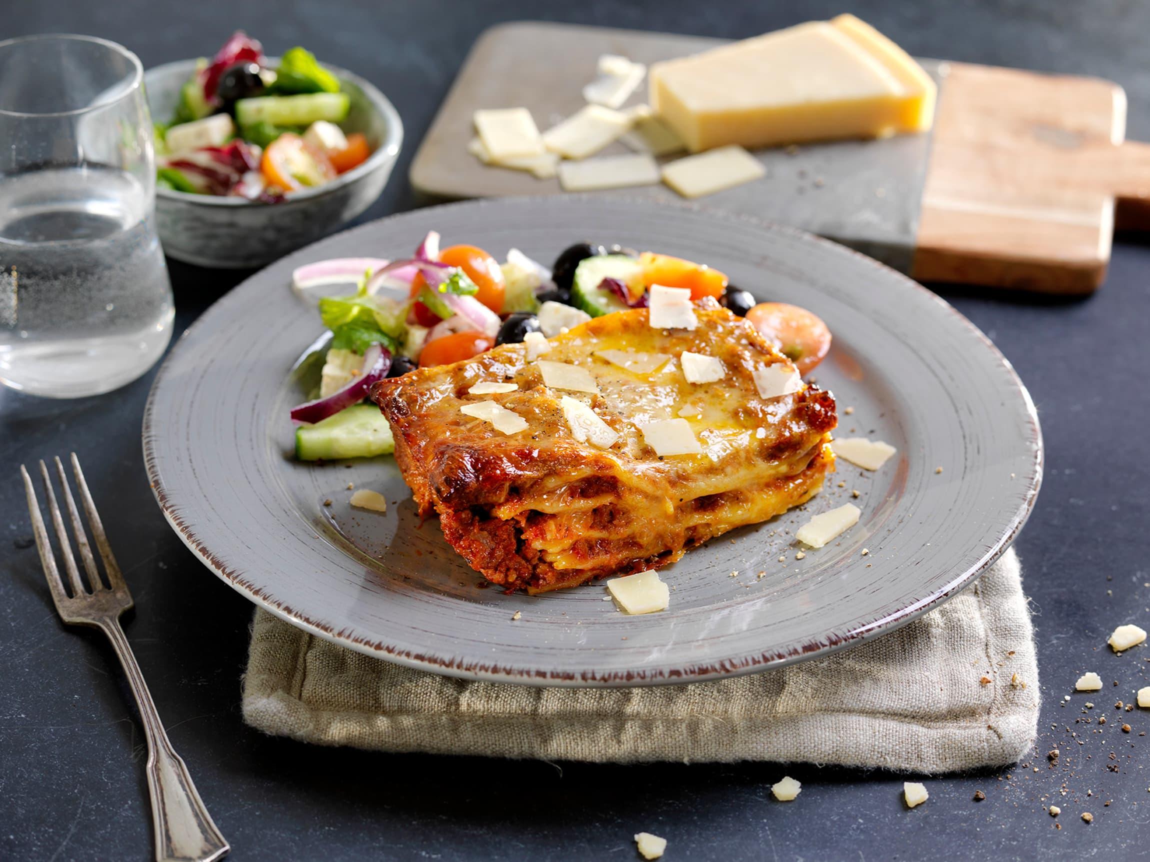 Hva med deilig lasagne til lunsj eller middag? Du finner den ferdig i Takeaway-disken!