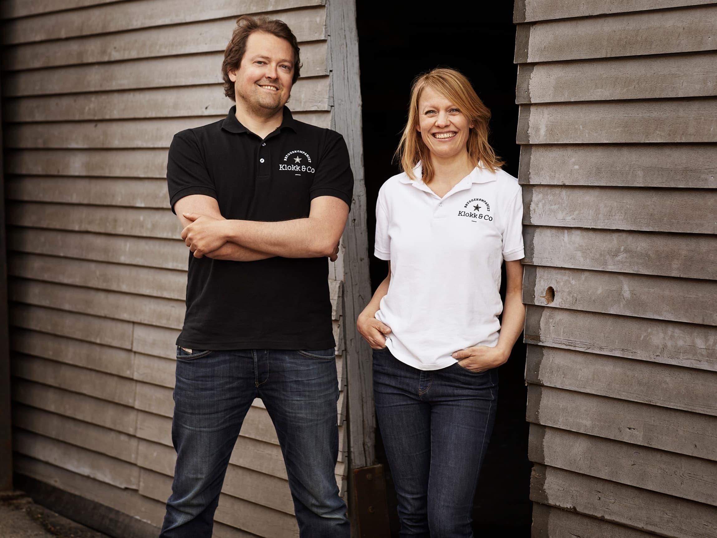 Leif Klokk og Kristine Lund står bak Klokk & Co og har fått mye oppmerksomhet for sitt alkoholfrie øl.
