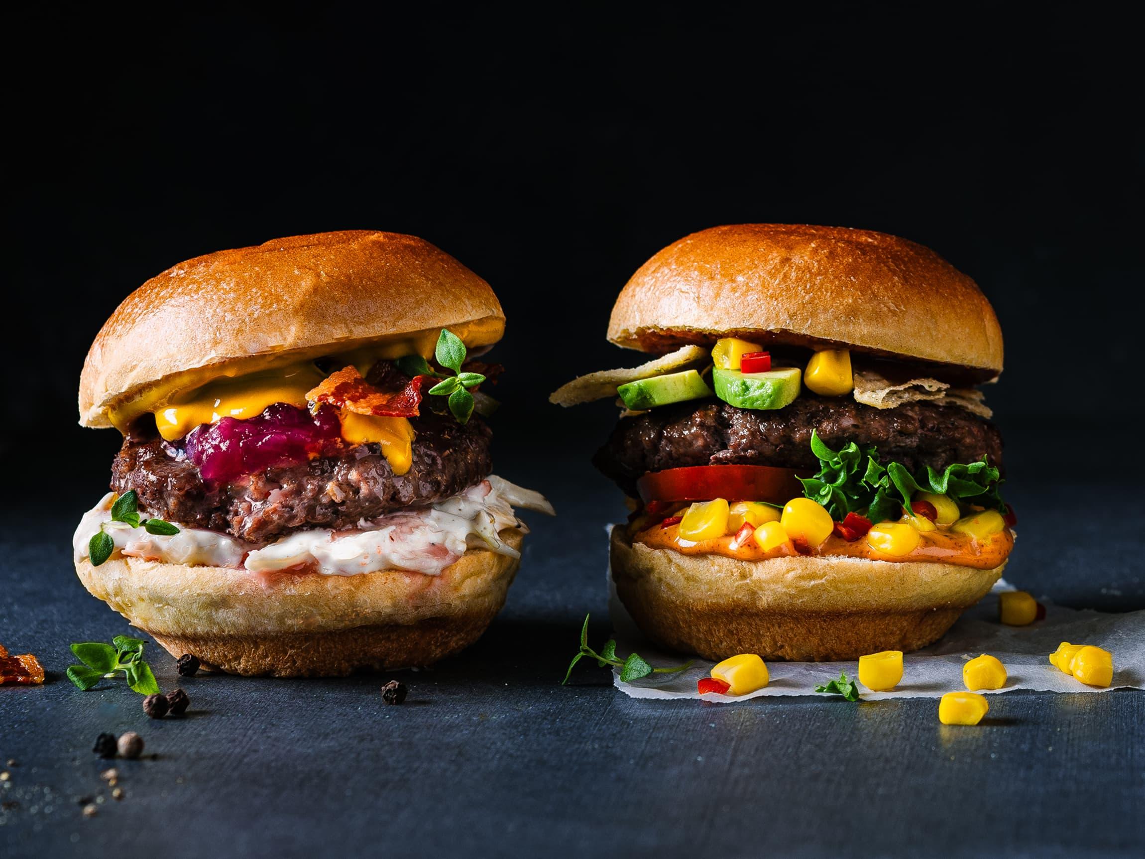 Med angus sliders kan du prøve ulik topping på flere burgere. Hva blir din favoritt?