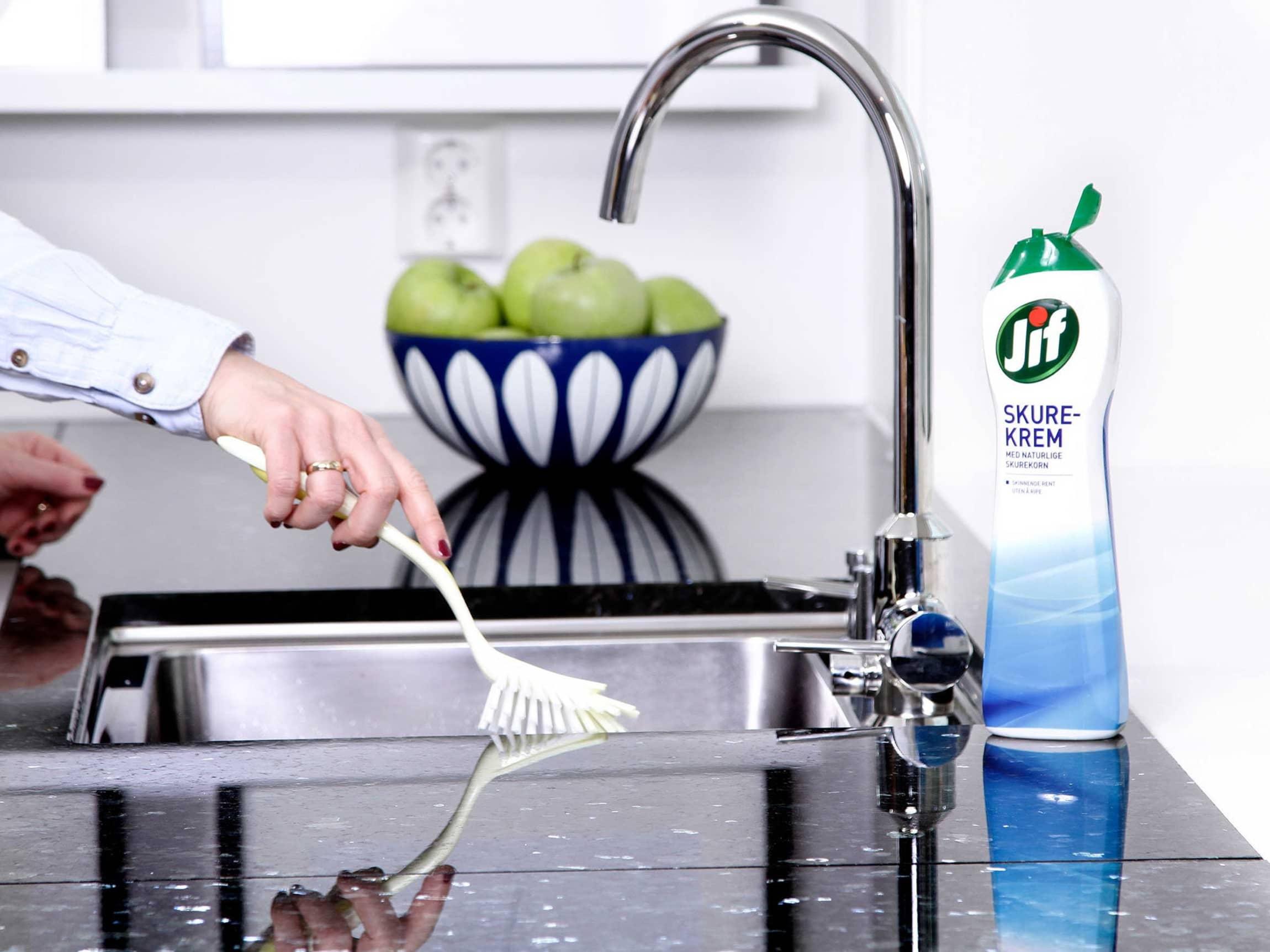 En ren oppvaskkum er gir fort grobunn for bakterier.