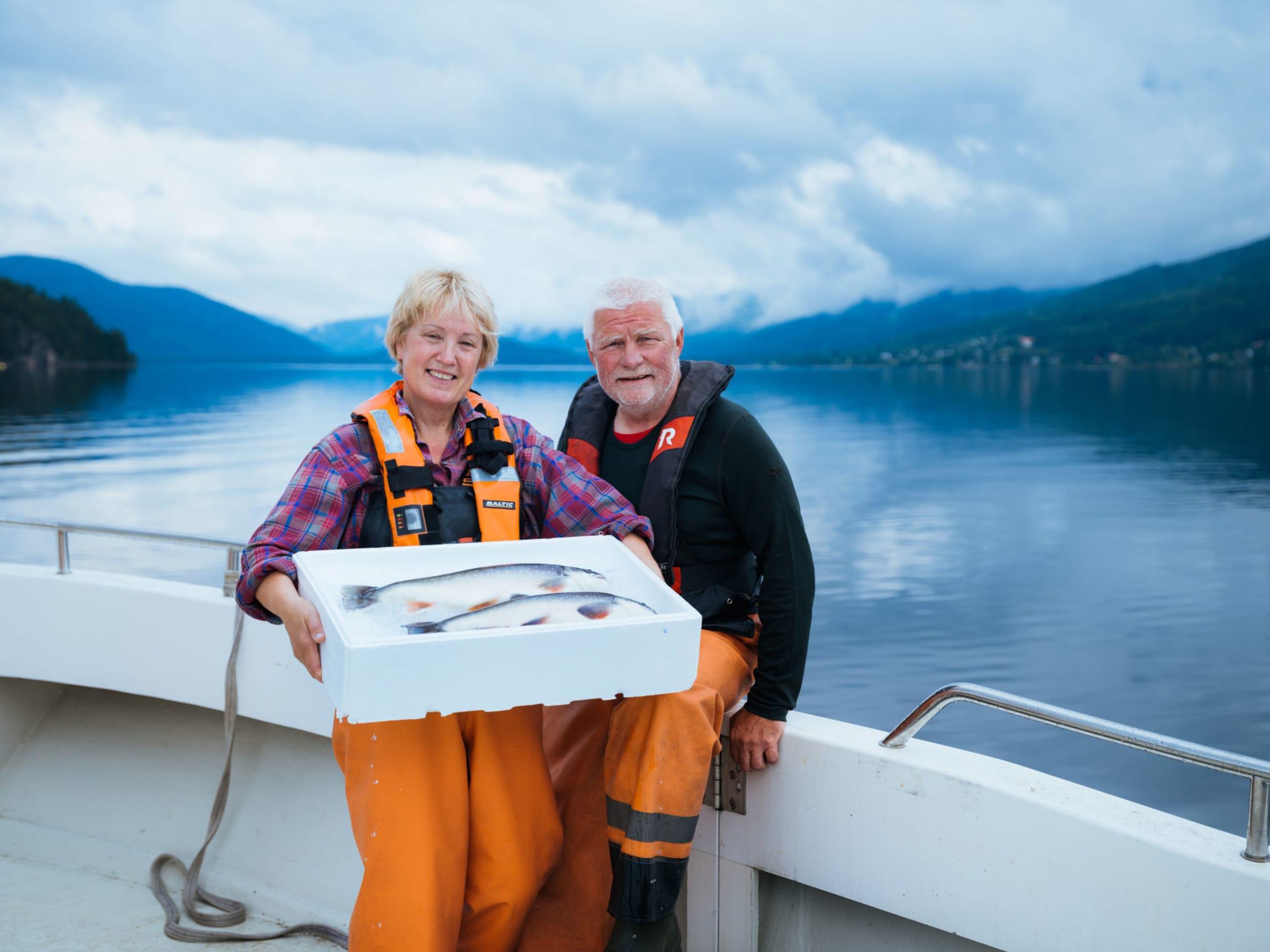 Jonny og Ingeborg Aketun driver oppdrett av Telemarkrøye av høy kvalitet.