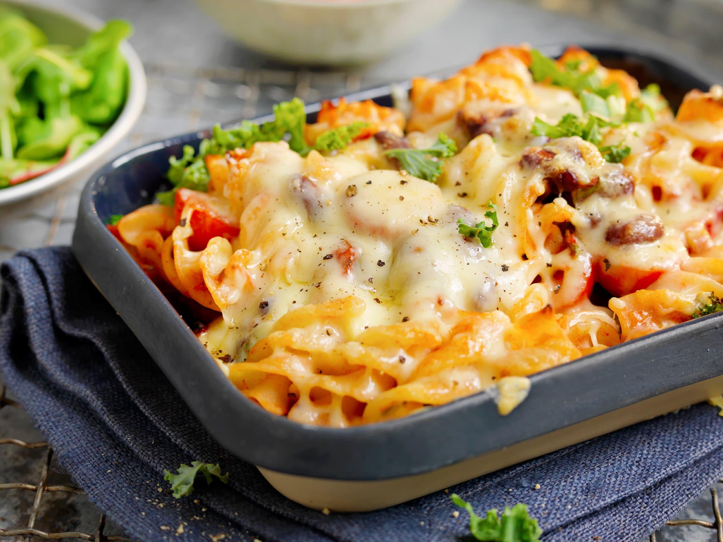 Pastagrateng uten kjøtt er et godt middagstips på en litt travel hverdag eller til lunsj i helgen.