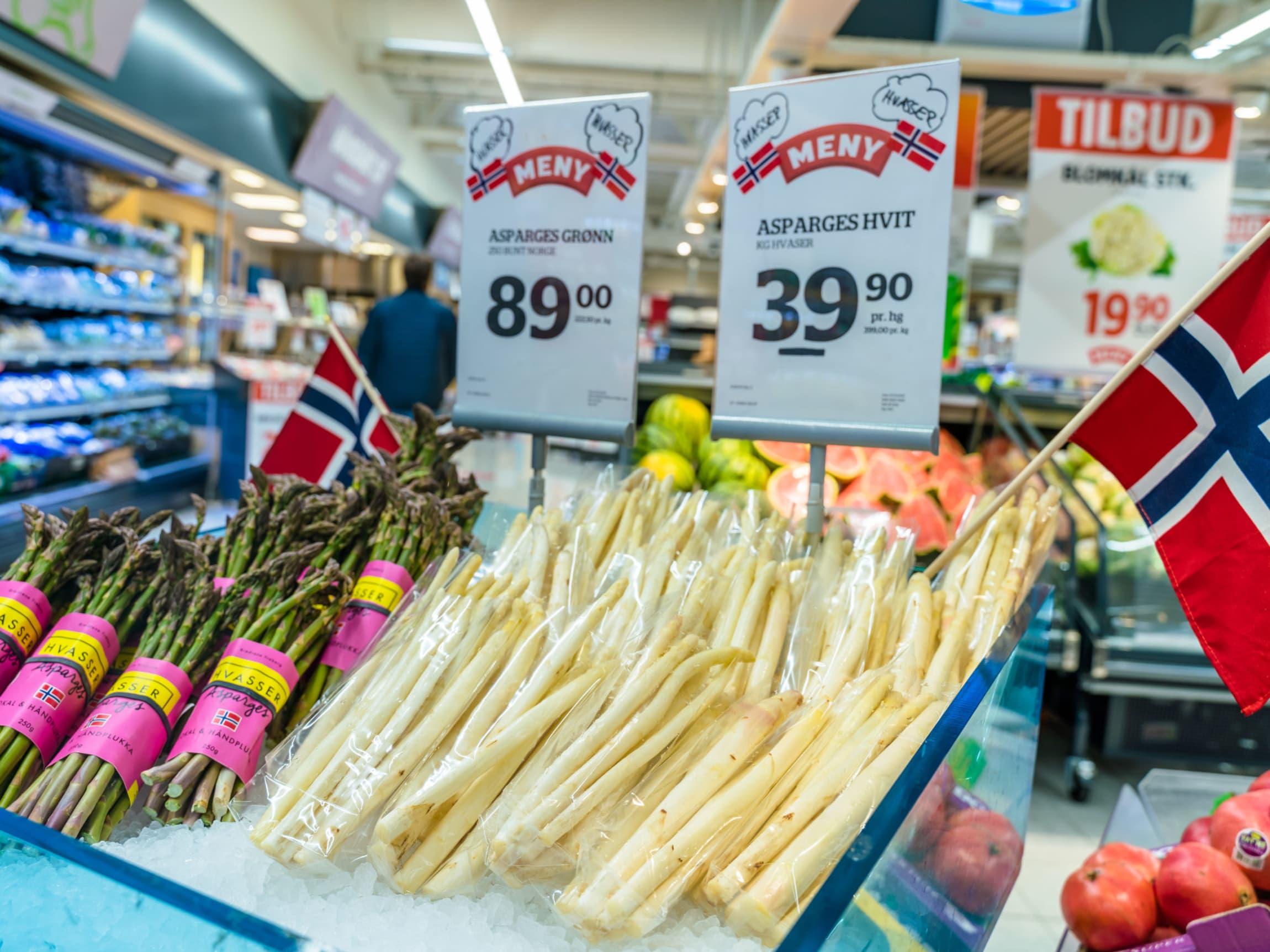 Norges første hvite asparges