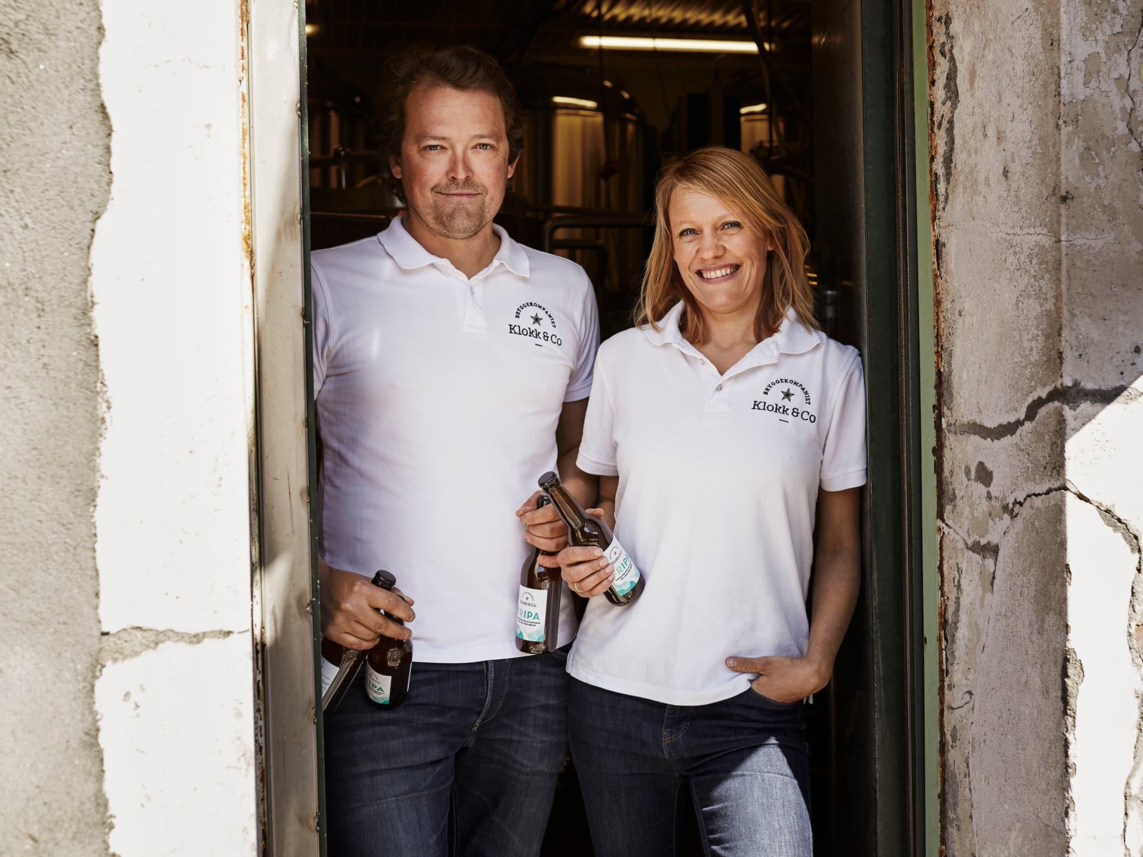 Leif og Kristine driver bryggeriet Klokk & Co hvor de brygger alkoholfritt øl.