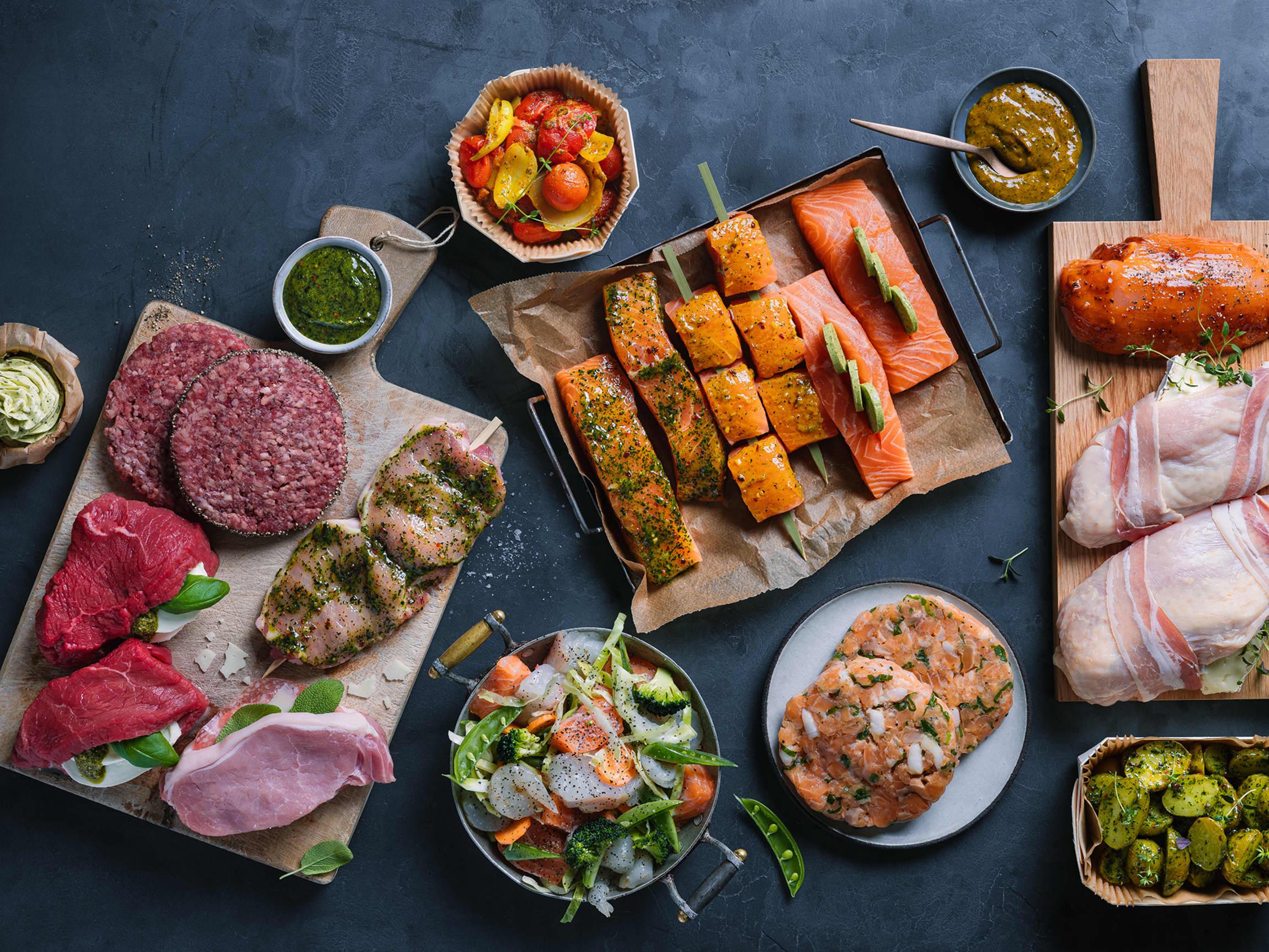 I ferskvaredisken finner du et stort utvalg av kjøtt og fisk i porsjonsstykker, salater, wok og tilbehør for enhver smak.