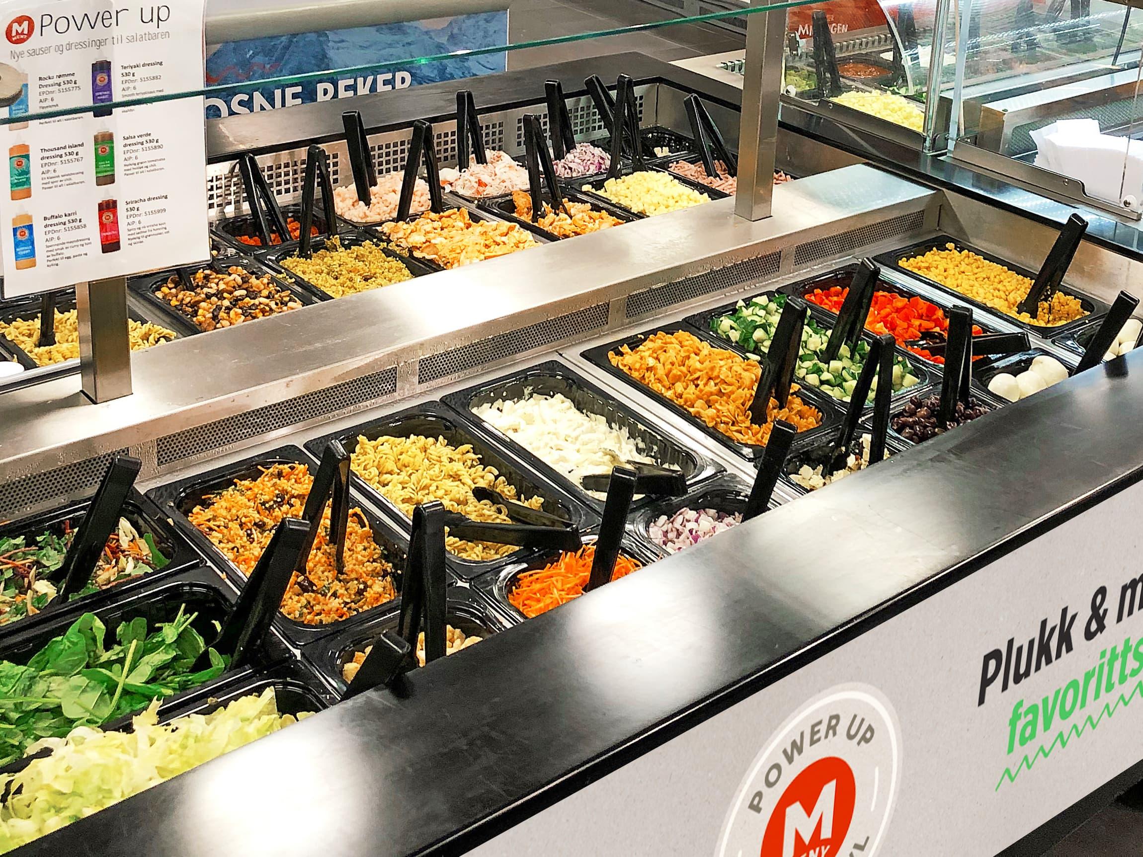 Salatbar er svært populært både som mat på farten og som enkelt tilbehør til middagen