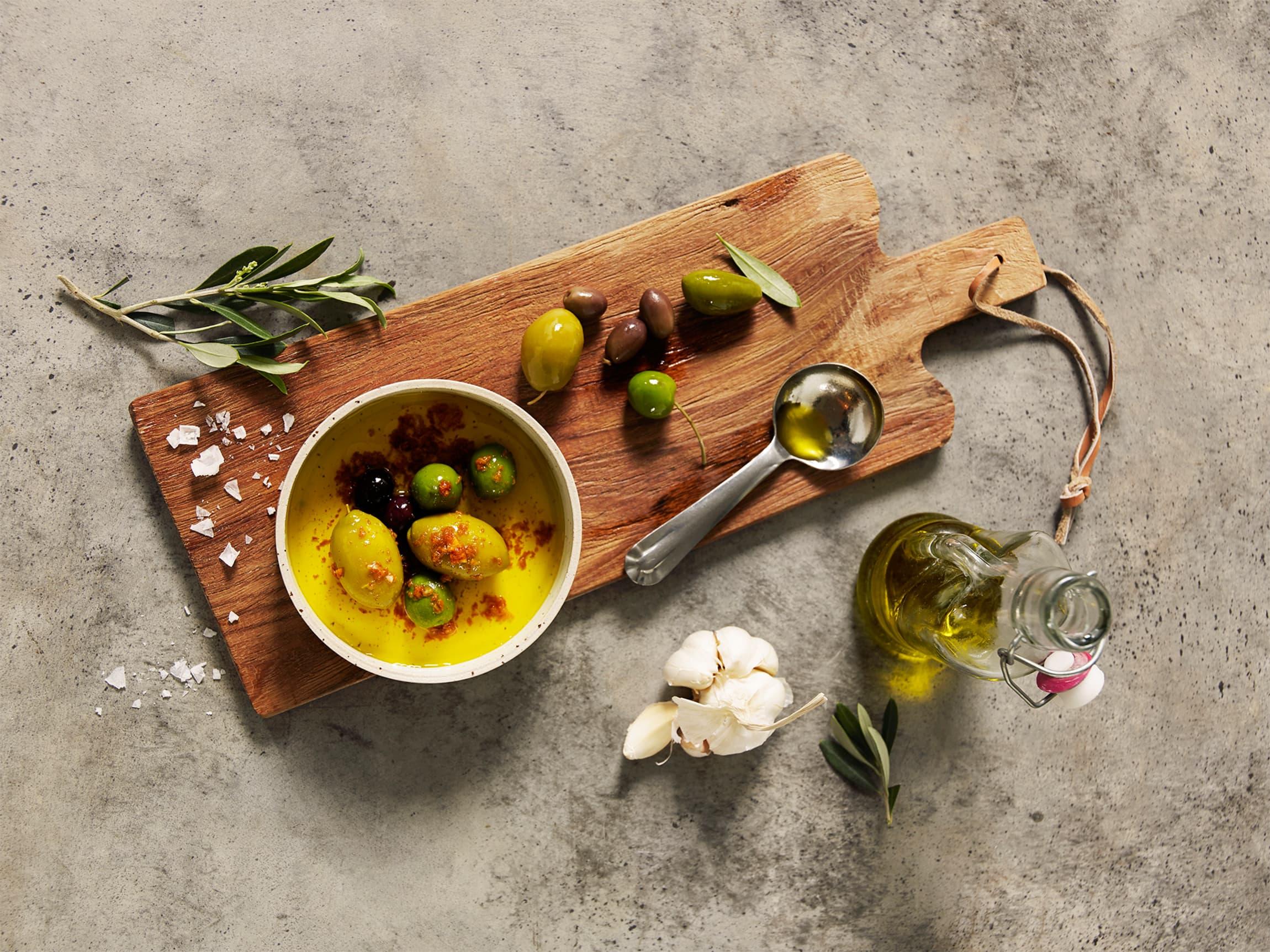Oliven er en velkommen gjest på tapasbordet!