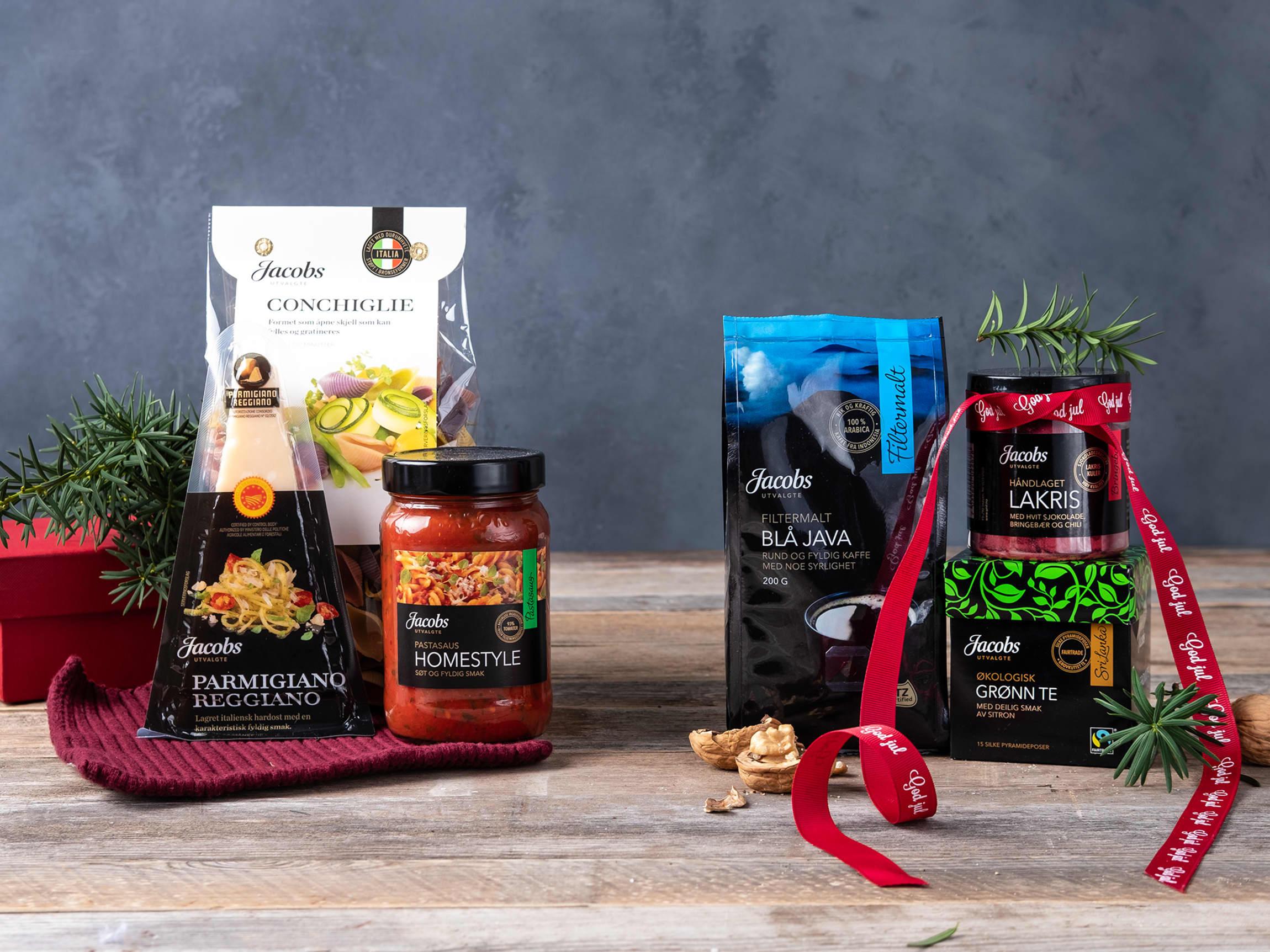 Flotte produkter fra kvalitetsserien Jacobs Utvalgte er fint å få og gi.