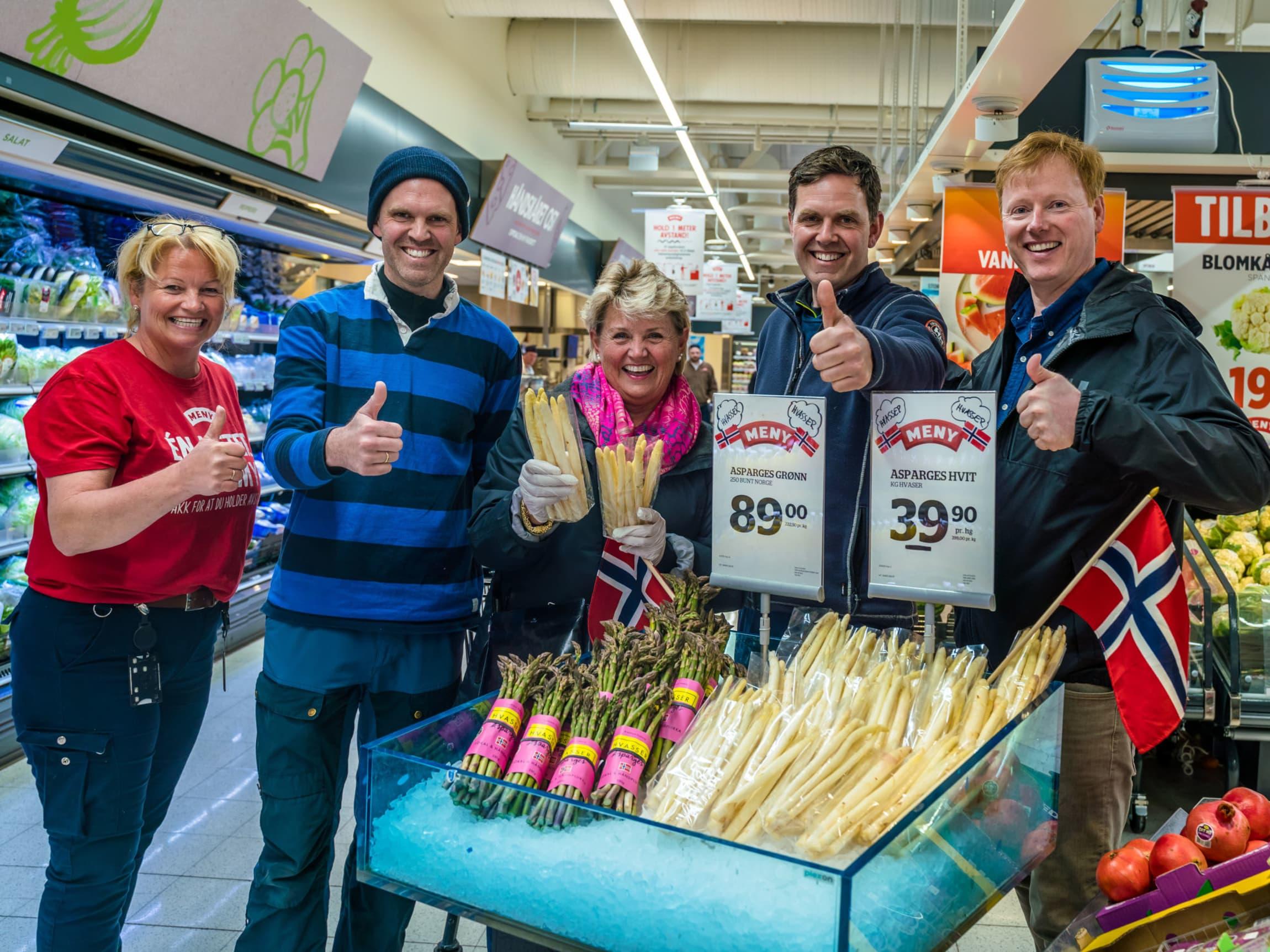 Norsk hvit asparges er foreløpig tilgjengelig i noen få MENY-butikker i Vestfold.