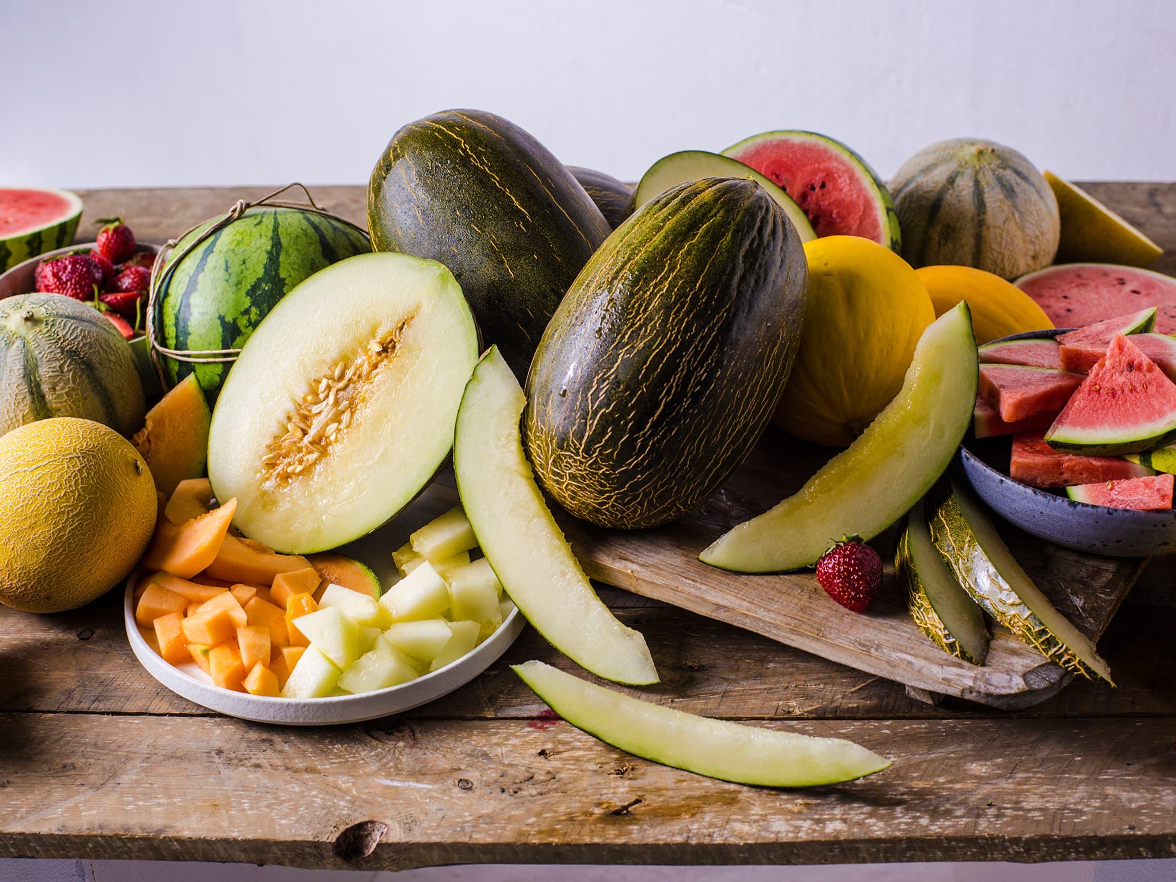 Meloner - farge, bruk og smak