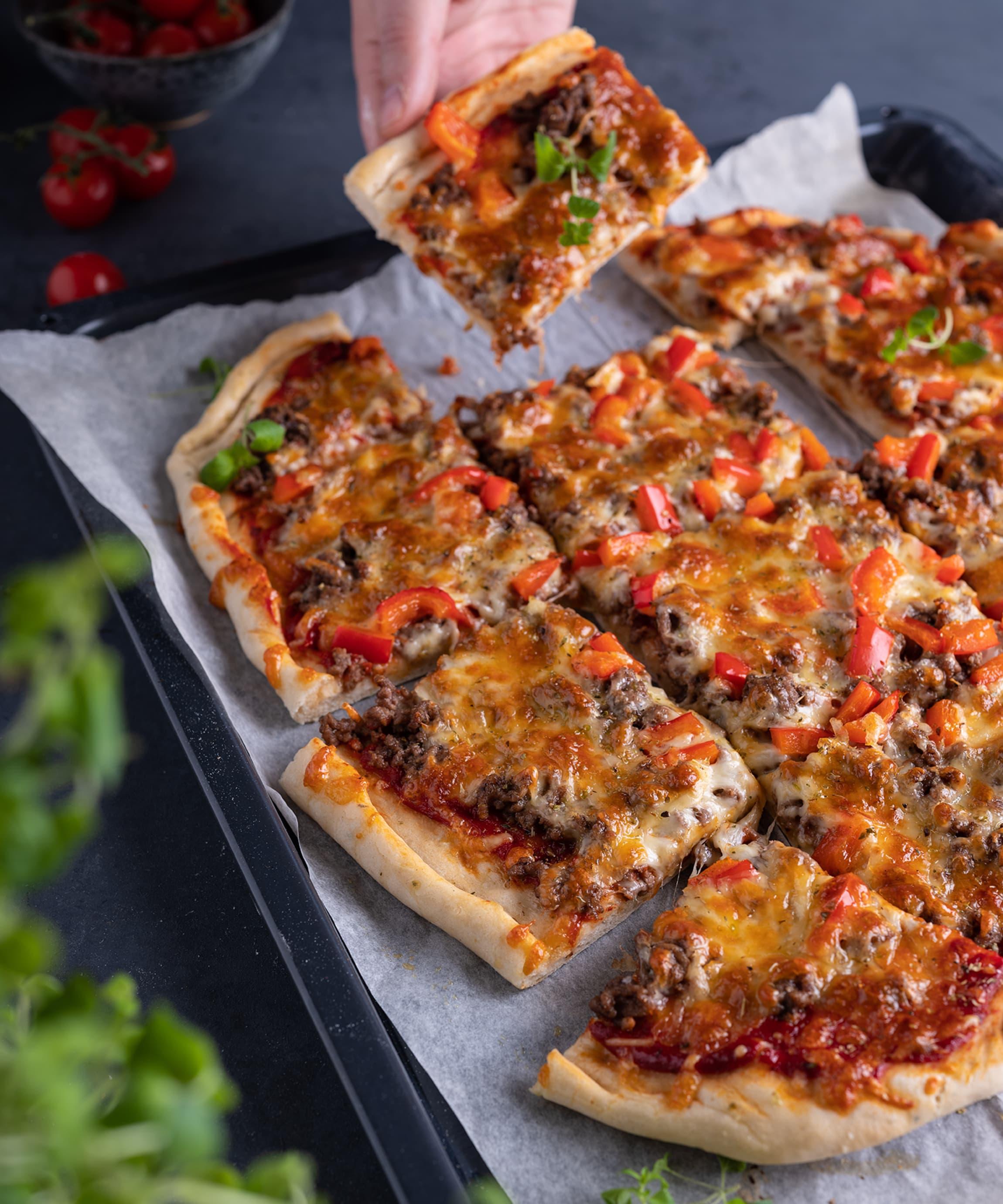 Til pizza passer de fleste kjøttdeigtyper