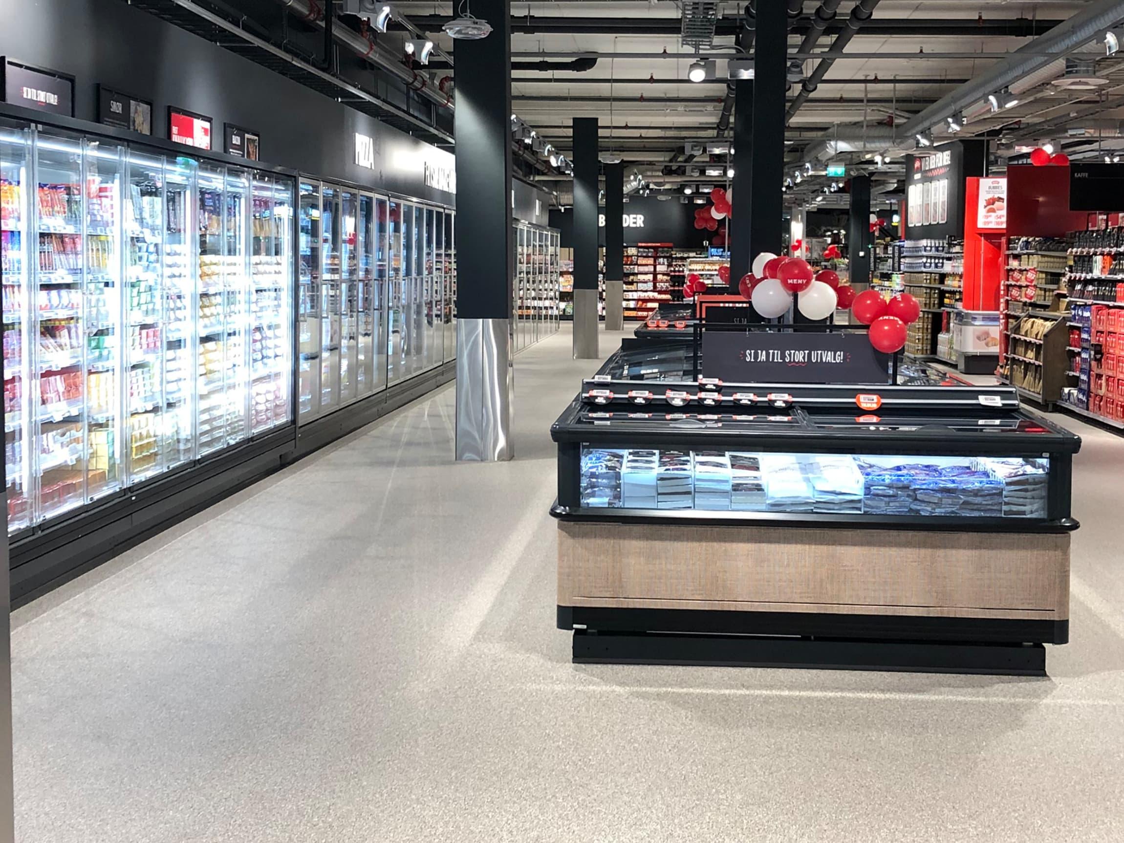 MENY Gulskogen er en av flere butikker som har blitt ustyrt med mer miljøvennlig utstyr og teknologi
