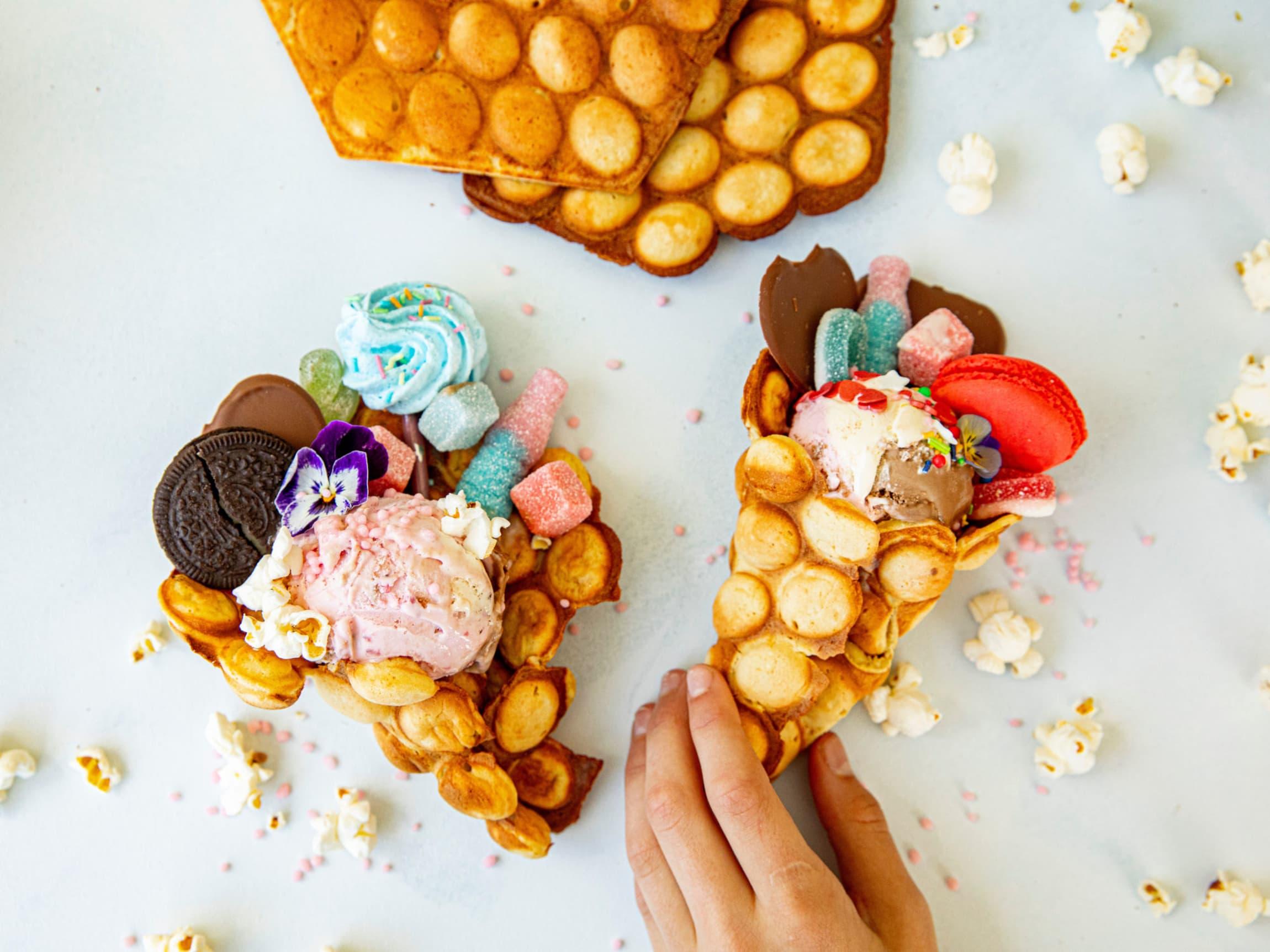 Barnas favoritt - vaffel, is og godis!