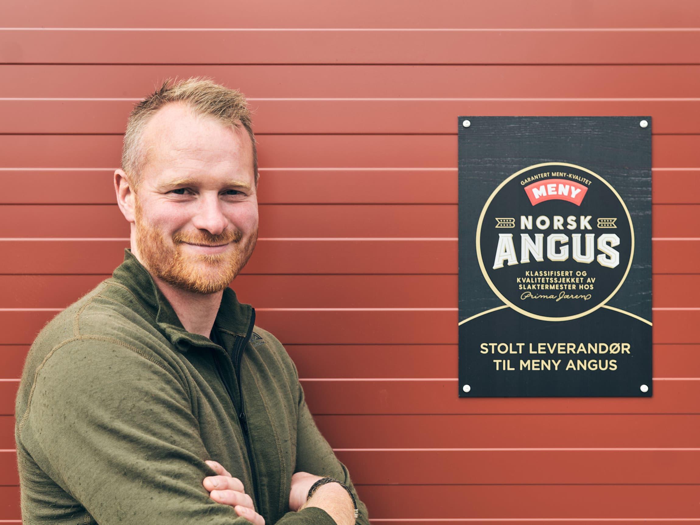 Ole Christian Hovstein er en av MENY Angus-produsentene