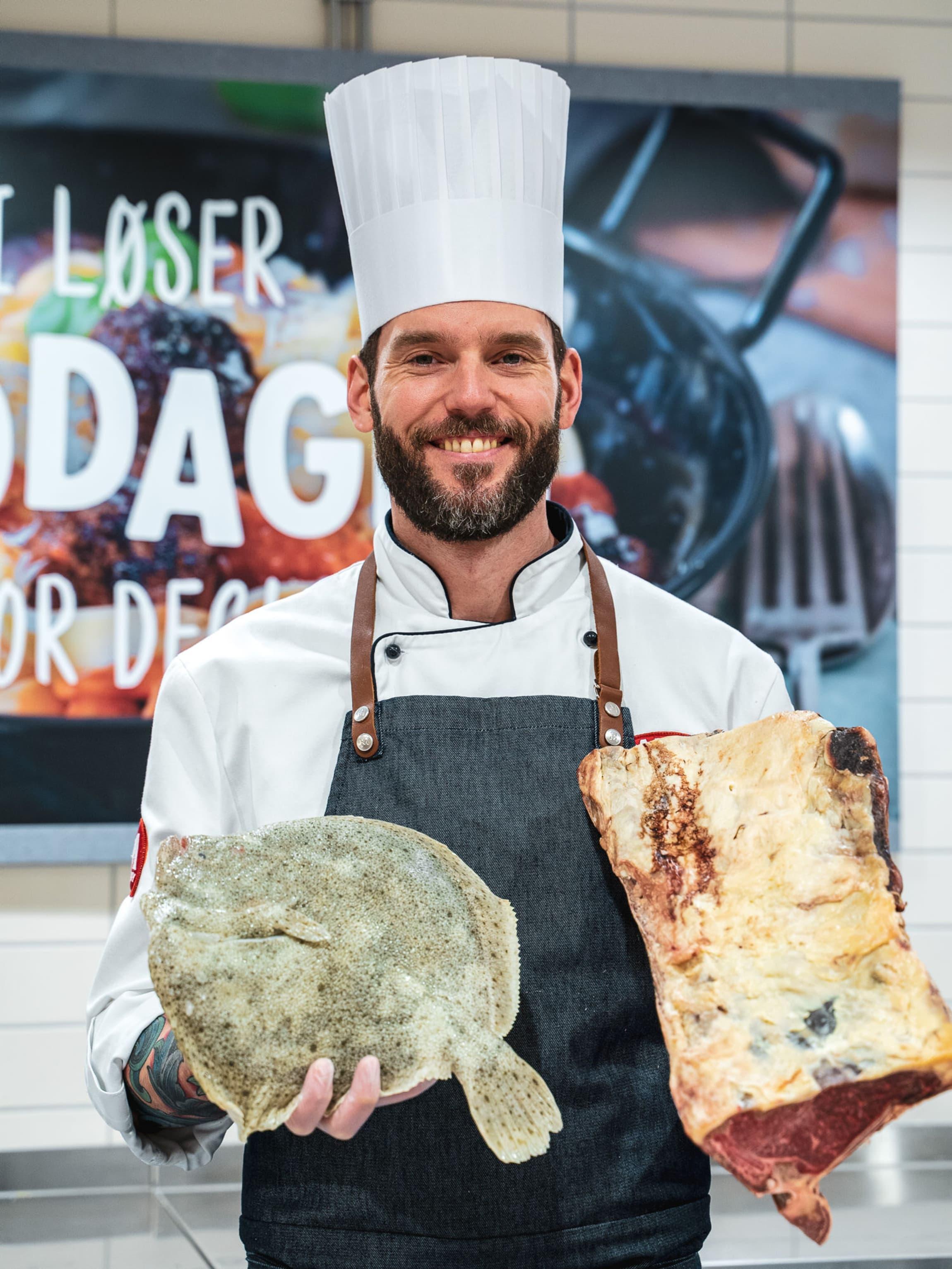 Med tre fagbrev har Ståle Sandvik det meste om både kjøtt og fisk.