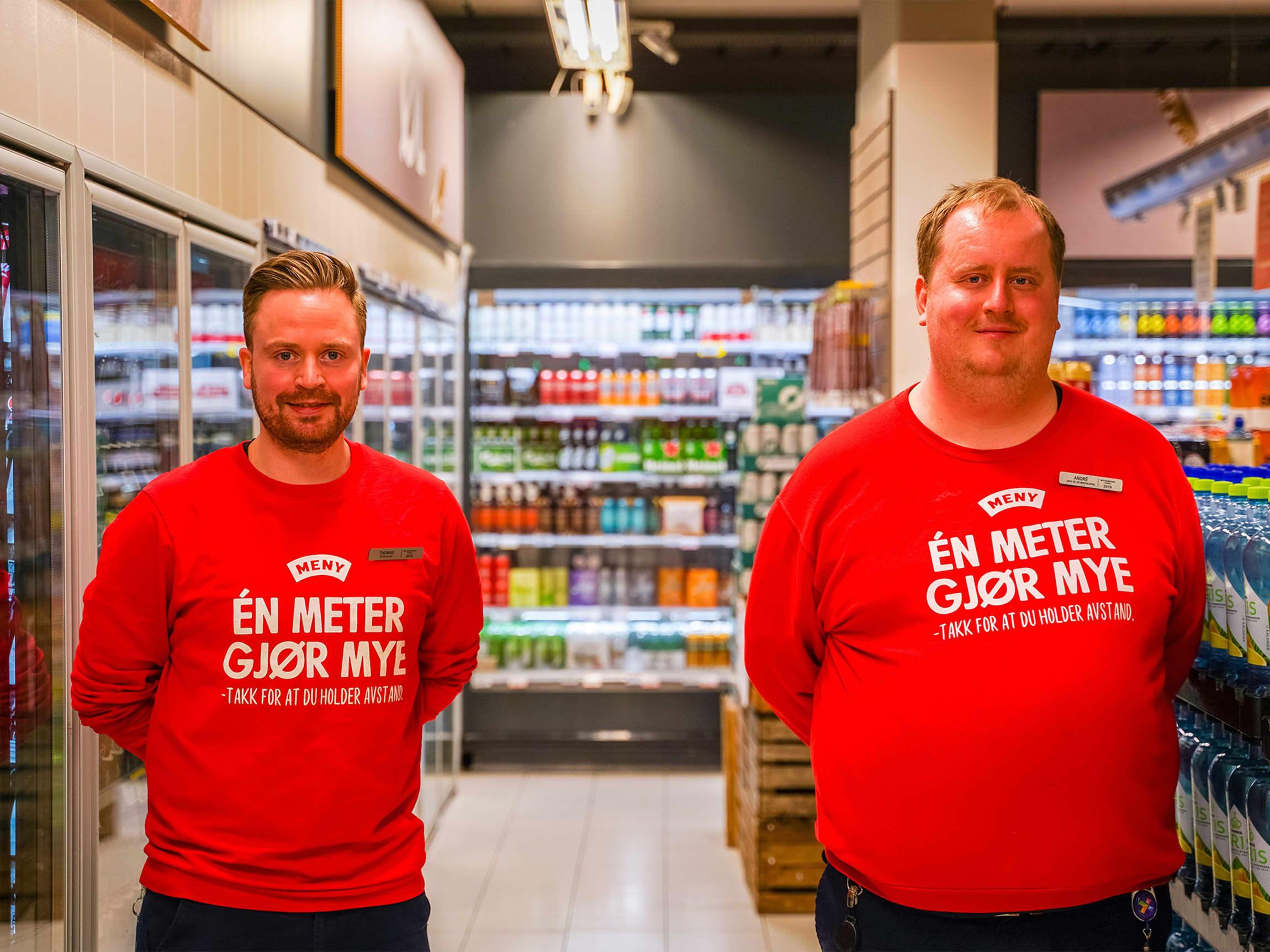 Butikksjefen er glad for at han valgte å ansette Andre på MENY Løren.
