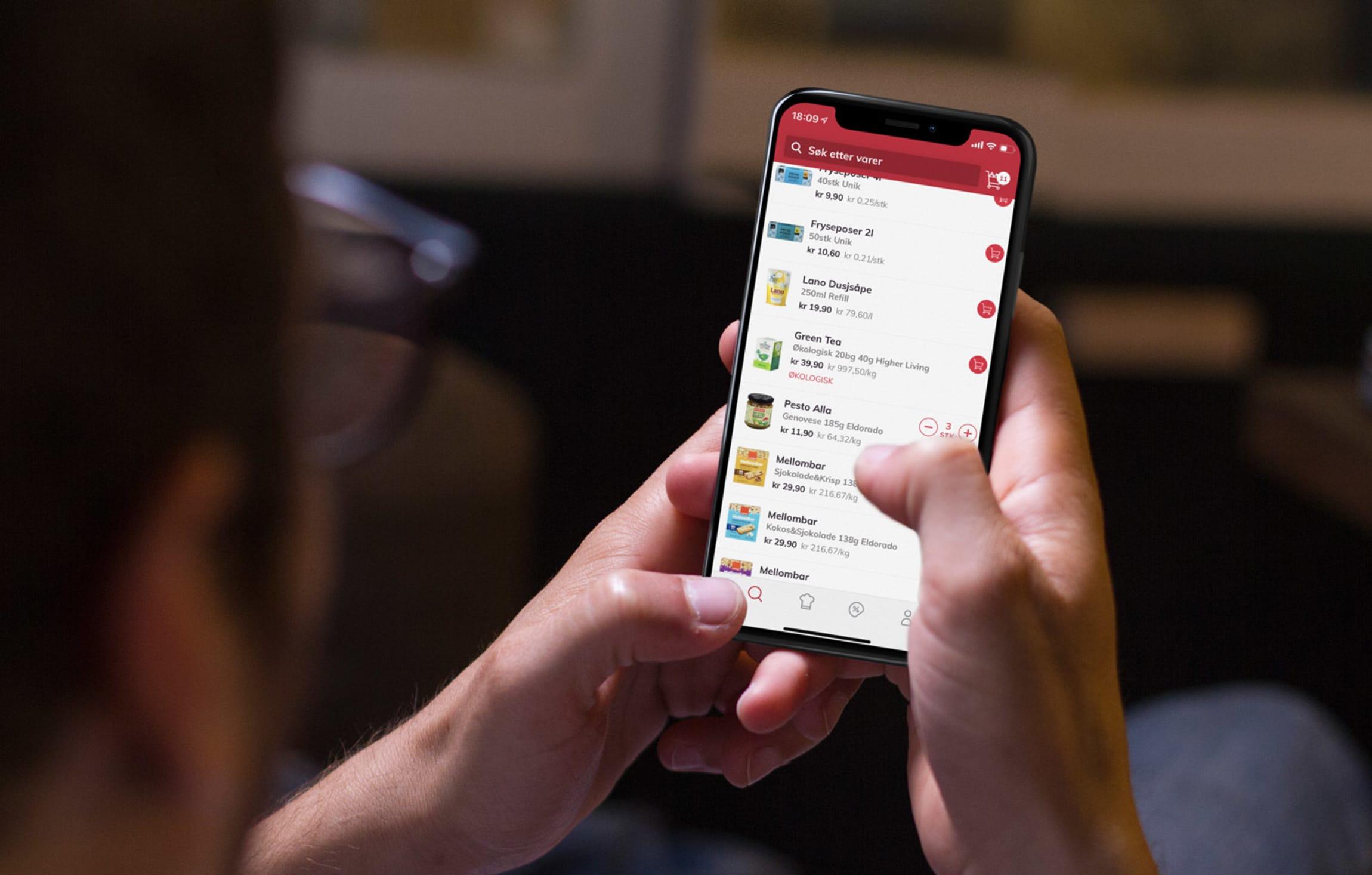 MENYs kunder engasjerer seg digitalt både på nettsiden og i MENY-appen.
