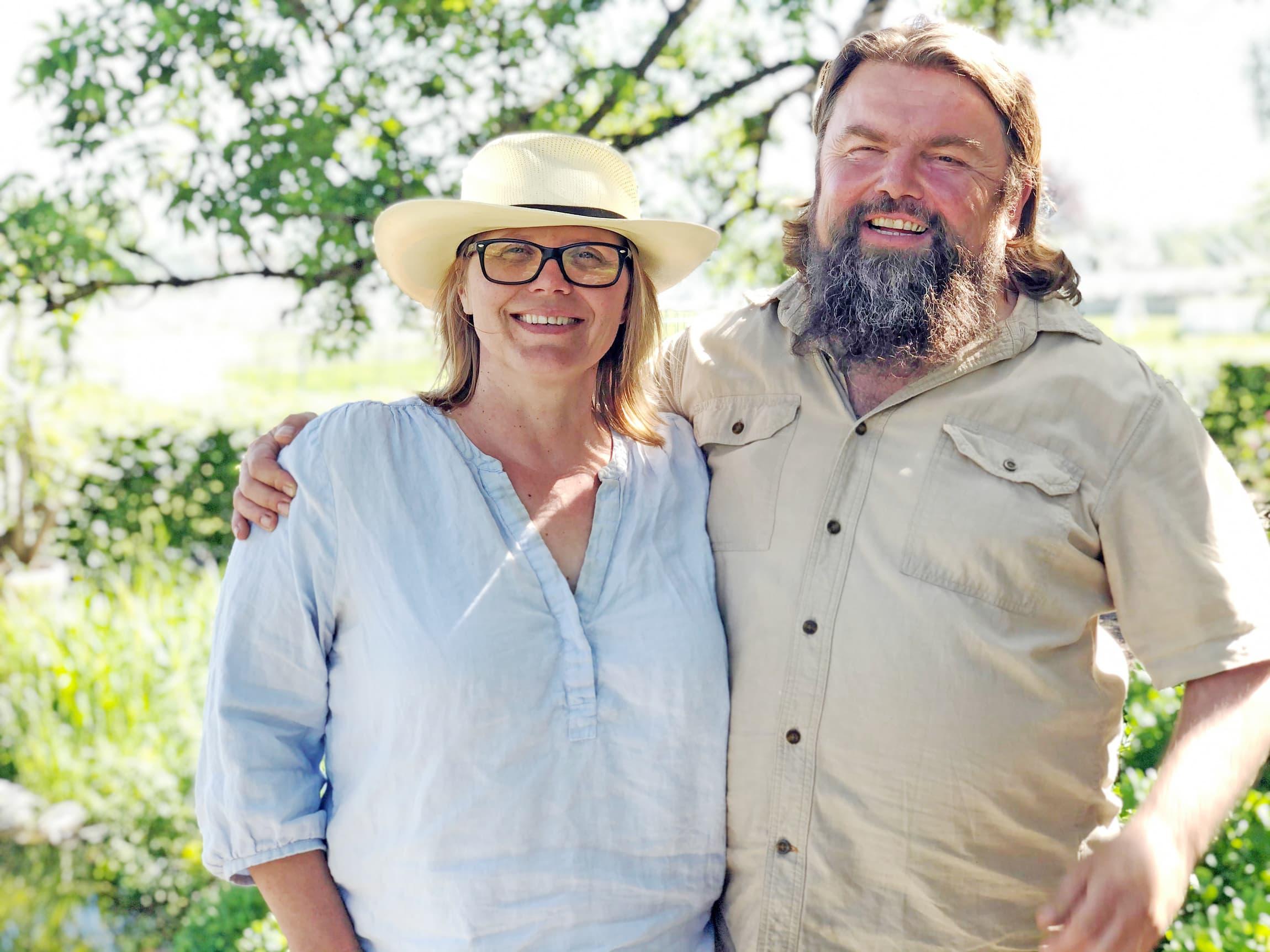 Kristin Stenersen og Bjørge Madsen driver Skjærgaarden Gartneri i Åsgårdstrand