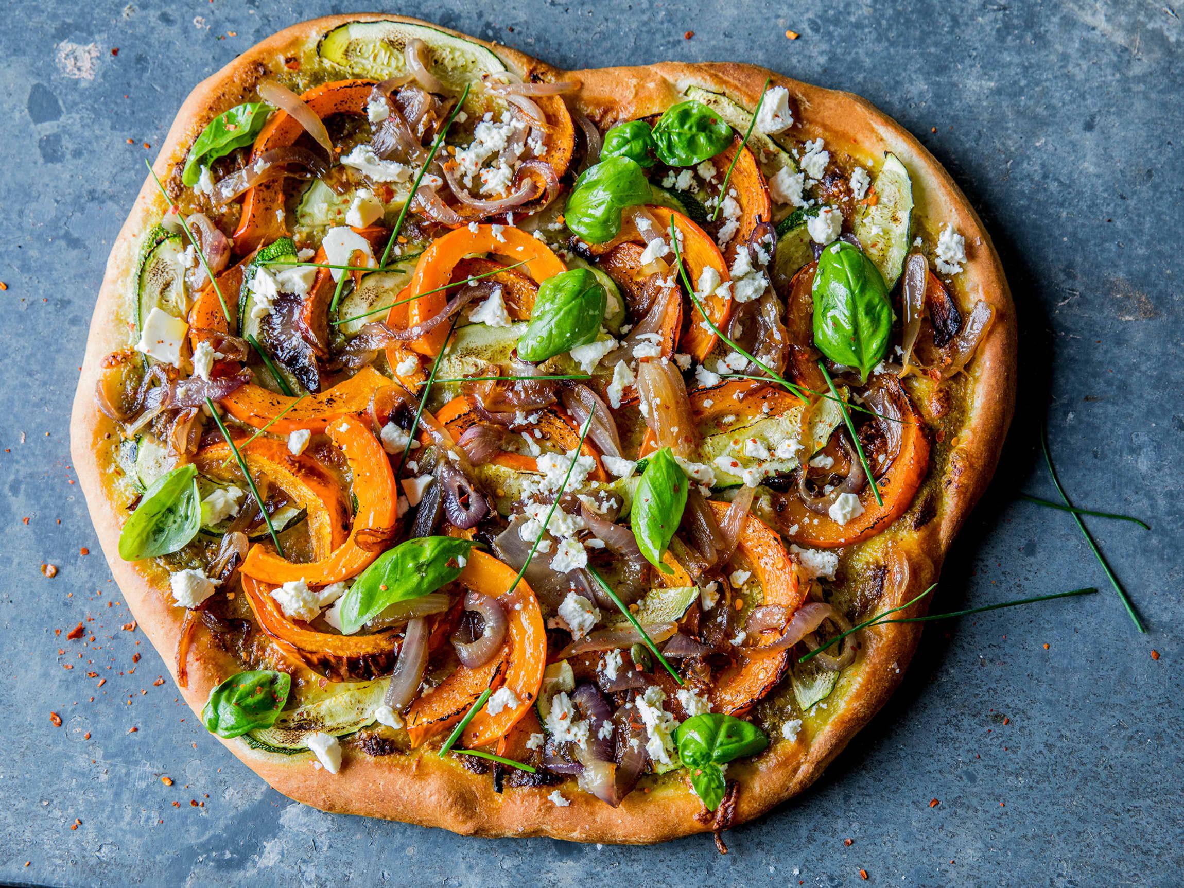 En pizza litt utenom det vanlige, med veldig mange gode smaker!