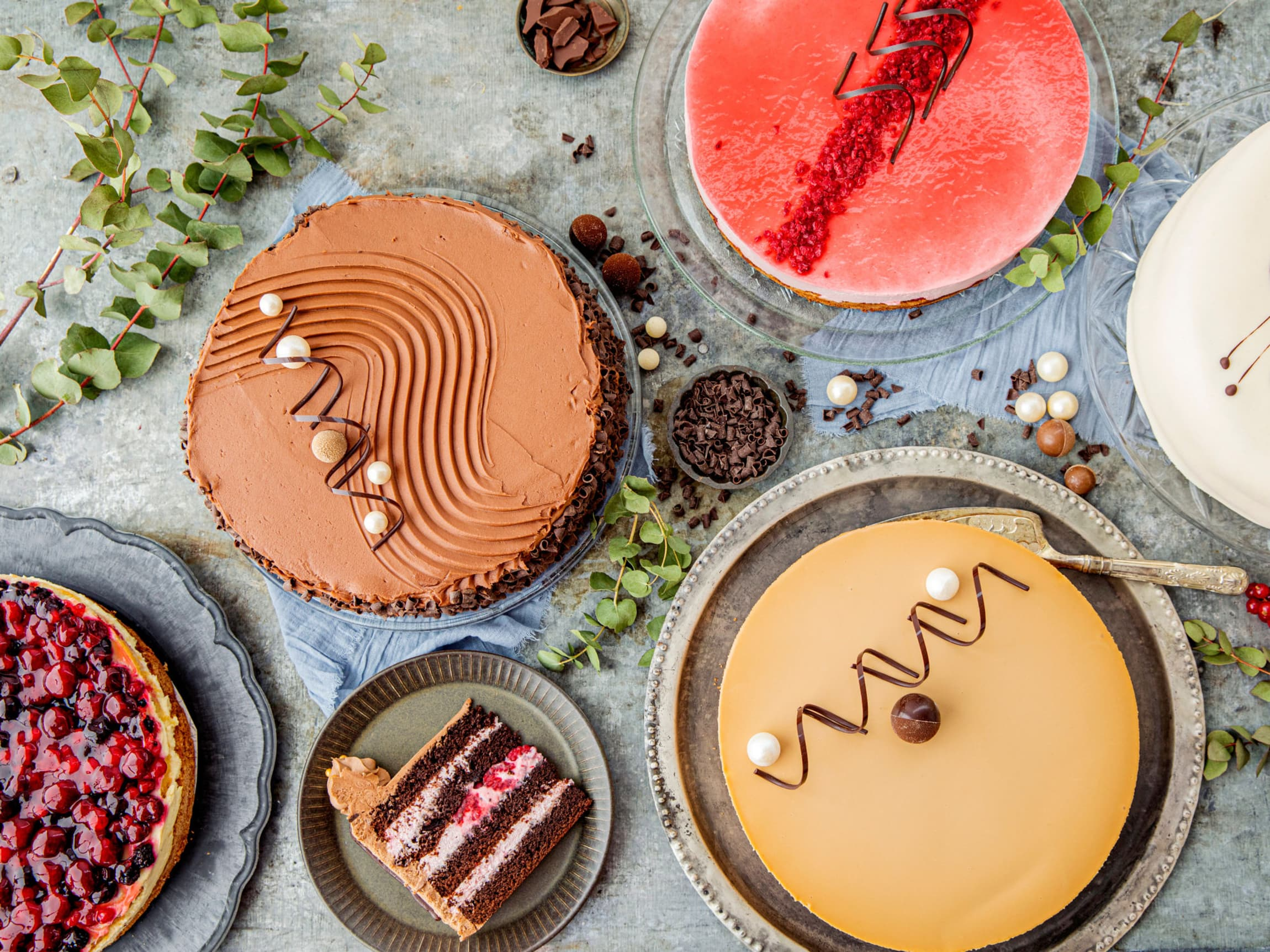 Bestill kake på nett - få levert hjem eller hent selv