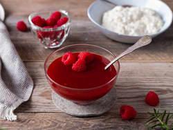 Rød saus med bringebær