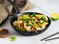 Asiatisk wok med kylling