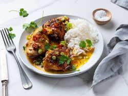 Grillet kylling overlår med asiatisk saus