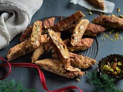 Biscotti med pistasj og tranebær