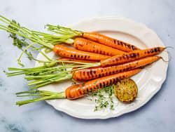 Grillede gulrøtter