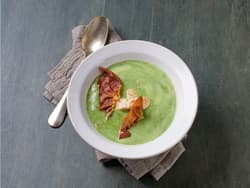 Spinat- og blomkålsuppe