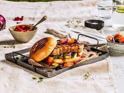 Grillet svinefilet i brioche brød