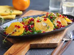 Salat med appelsin og grønnkål
