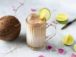 Eksotisk mocktail med kokosmelk