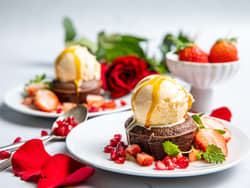 Dessert for to til Valentine's Day