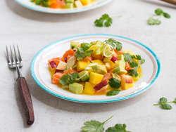 Ceviche med laks og mango