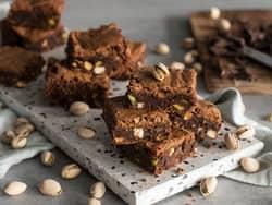 Brownies med pistasjnøtter