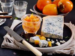 Syltet persimon til blåmuggost