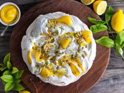 Pavlova med lemon curd
