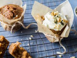 Gresskarmuffins med ostekrem