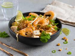 Pad thai med reker og tofu