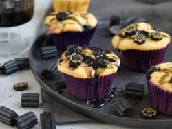 Saftige muffins med lakris