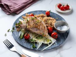 Ovnsbakt kyllingbryst med timian og sitron